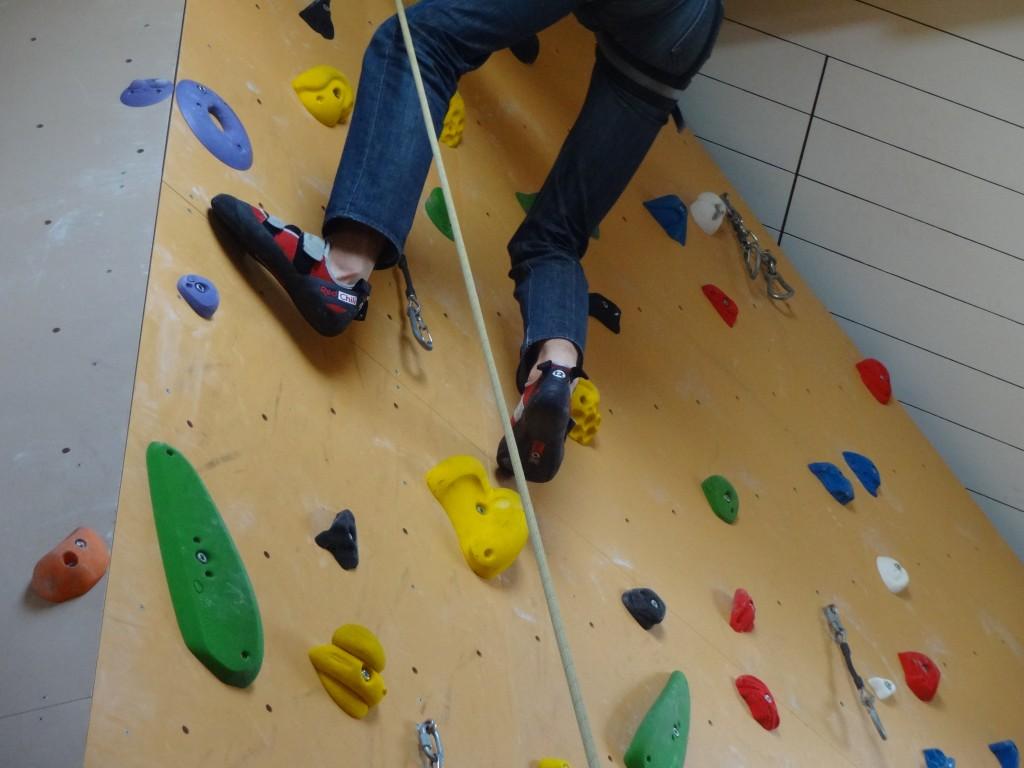 Der Einladung in die Kletterhalle H3 in Metzingen kamen rund 30 Asylbewerber gerne nach!